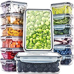 top rated Full Star (14 pieces) Food Storage Container with Lid – Plastic Food Container with Lid –… 2021