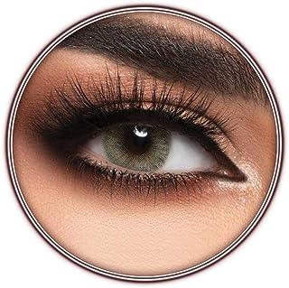 Lensme Lime Contact Lenses, Original Unisex Lensme Cosmetic Contact Lenses, Six Months Disposable, Lime (Green Grey Color)
