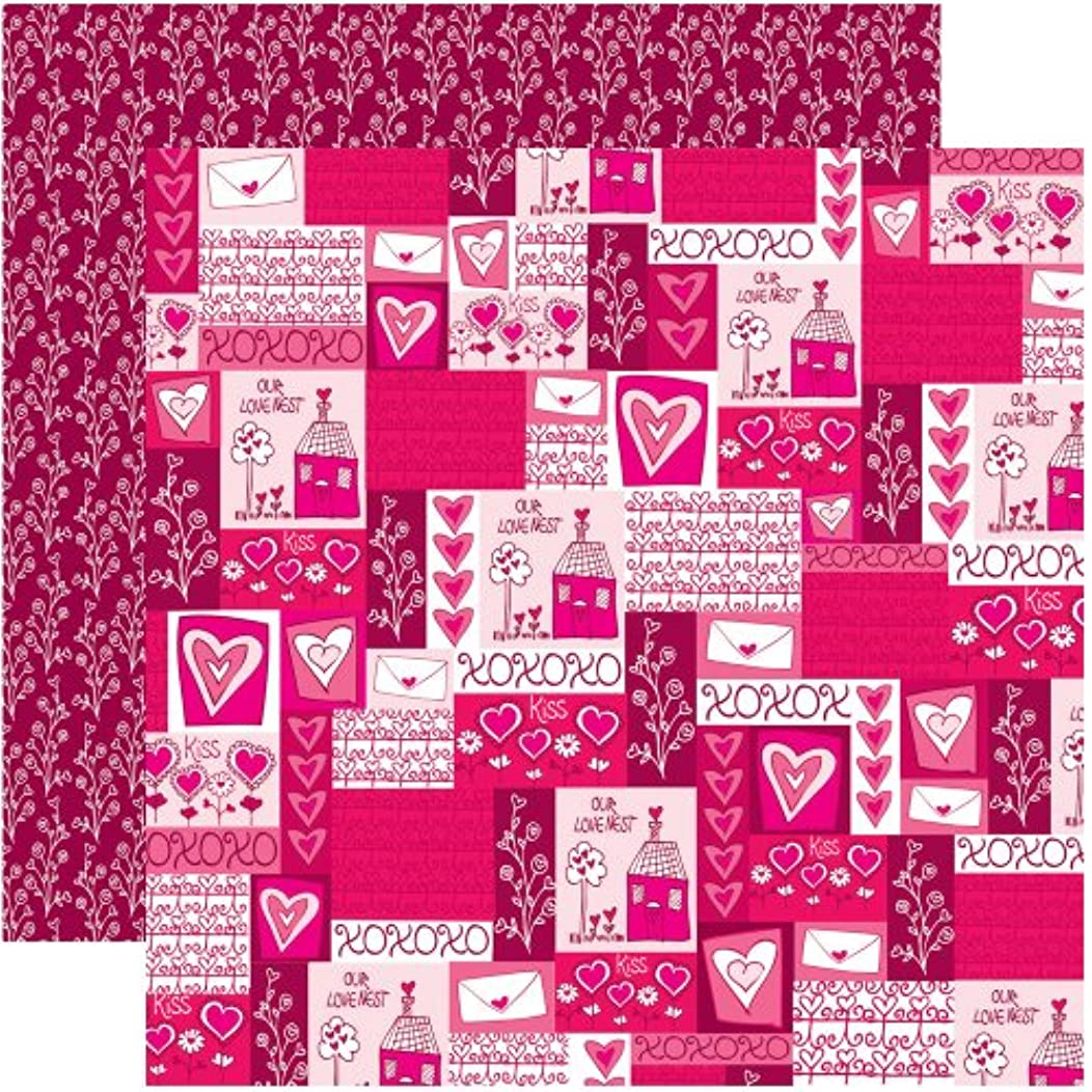 Reminisce Anything for Love 12 by 12-Inch Double Sided Scrapbook Paper, Sending You My Love