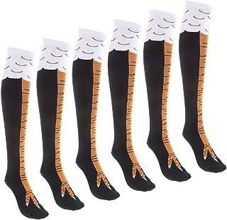 Guwa Meraviglioso 3 paia di calze a forma di zampa di pollo calze al ginocchio