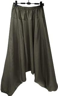 Stylish Crotch Pants Wide Leg Pants Dancing Harem Pants Pantskirt Bloomers Harem Trousers 13 Colors Plus Size M-5XL