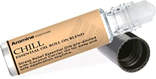 Chill (Stress Reducer and Relaxation) Essential Oil Roll On, Pre-Diluted 10ml (1/3 fl oz)