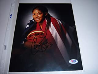 Candace Parker WNBATennesse VolsOlympics PSA/DNA Autographed Signed 8x10 Photo - Certificate Included