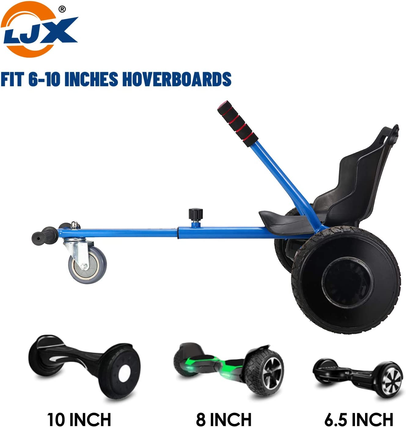 """LJX Hoverboard Seat Attachment Suitable for All Ages Go Kart Hoverboard Accessories for 6.5/"""" 8/"""" 10/"""" Hoverboard"""