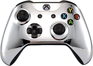 eXtremeRate Chrome Silver Edition Front Housing Shell Faceplate for Microsoft Xbox One S & Xbox One X Controller