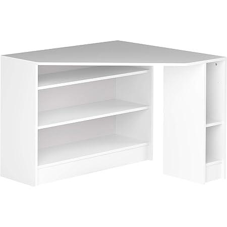 Marque Amazon -Movian Cabriel - Bureau d'angle, 94x94x74.1cm (longueurxprofondeurxhauteur), Blanc