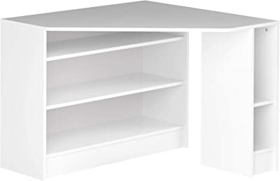Amazon Marke -Movian Cabriel - Eckschreibtisch, 94x94x74.1cm (L x T x H), Weiß