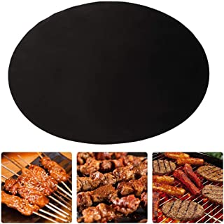 40cm Round Black Wahsable Nonstick Heat Resistant Gas Stove Kitchen BBQ Silicone Mat Baking Tools Accessories