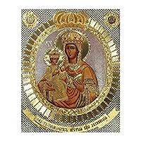 ダイヤモンドの絵画 フルスクエア/ラウンドドリル5Ddiyダイヤモンドペインティング「宗教アイコン」3D刺繡クロスステッチ5D家の装飾ギフトBk