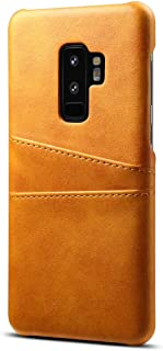 Ruida -au Galaxy S9 Plus Case Ultra Slim Synthetic PU Leather Back Cover with 2 Card Slots Wallet Phone Case