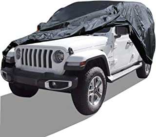 hikotor Car Cover Fit 2004-2019 Jeep Wrangler Unlimited 4 Door SUV