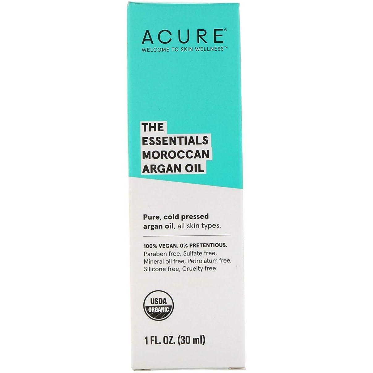 カタログズボンリングバックAcure, The Essentials モロッコ産アルガンオイル 1オンス (30 ml) [並行輸入品]