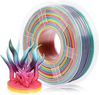 Sponsored Ad – PLA Filament 1.75mm, 3D Printer Filament Dimensional Accuracy /- 0.02 mm, 1KG (Rainbow)