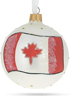 Best BestPysanky Flag of Canada Glass Ball Christmas Ornament Review