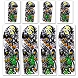 Leoars Nightmare Before Christmas Large Arm Tattoos, 4-Sheet Full Arm Sleeve Temporary Tattoos and 4-Sheet Fake Nightmare Before Christmas Half Arm Tattoos for Women Men Makeup