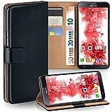 MoEx Étui Folio à Support vidéo Compatible Samsung Galaxy Mega 6.3 | Fente pour Argent/Cartes, Noir