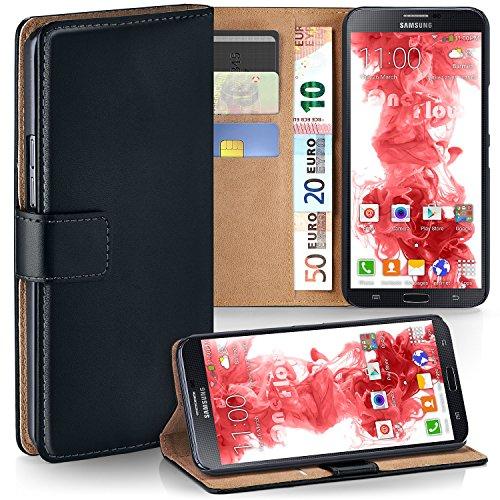 MoEx Funda Cartera [protección 360°] Compatible con Samsung Galaxy Mega 6.3 | Cierre magnético, Noir