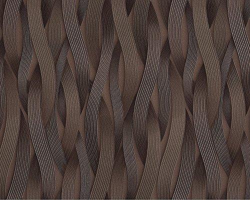 Streifen Tapete EDEM 81130BR26 Vliestapete strukturiert Ton-in-Ton und metallischen Akzenten braun bronze silber 10,65 m2