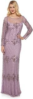 gatsbylady london Dolores Maxi Flapper Prom Dress in Lavender - Quality Handmade Wedding Dresses for Women