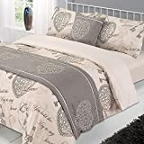 Dreamscene Antoinette Bed In A Bag Complete Set With Pillowcases Set With Pillowcases, Natural, Double