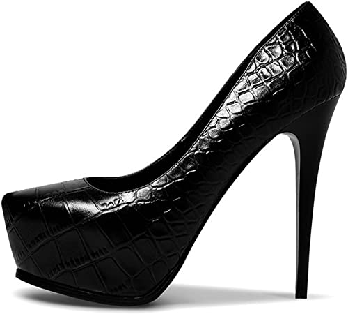 plataforma Impermeable Tacones Altos zapatos de Boca Poco Fina zapatos de Tacón Alto zapatos Europa y América