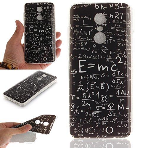 IJIA Custodia per Xiaomi Redmi 5 Plus Equazione Matematica TPU Silicone Morbido Protettivo Coperchio Caso Bumper Case Protettiva Cover per...