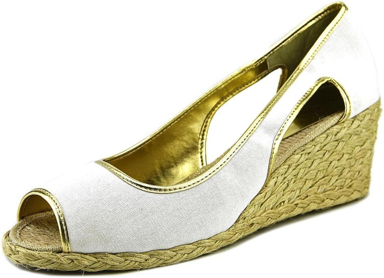 Lauren Ralph Lauren Charlotte Women US 7 White Wedge Sandal