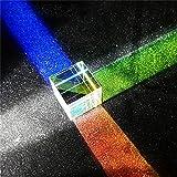 hudiemm0B Optical Glass X-Cube Dichroic Cubes Prism RGB Combiner Splitter Educational Gift