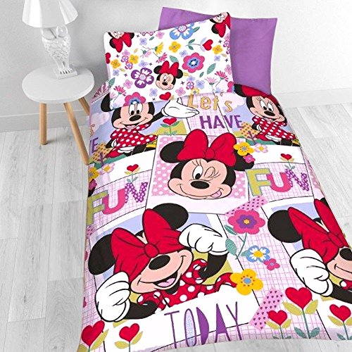 Motif Minnie Mouse Parure de lit simple.