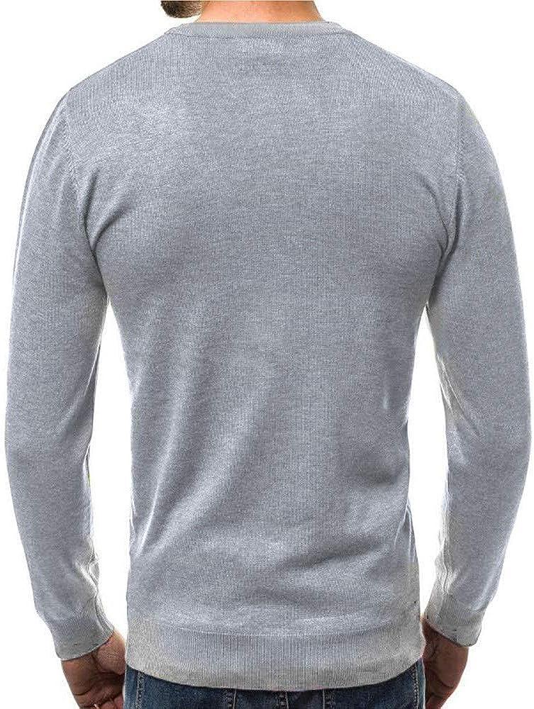Chandails Veste en Maille Homme Mince POPLY Col V /à Manches Longues serr/é Cardigans Gilet Slim Pas Cher /à La Mode Fashion Sweater