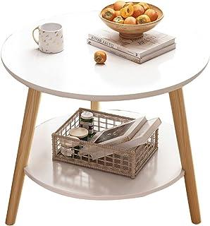 CJDM Petite Table Ronde de Balcon, Table Basse d'appoint de canapé économique, Table de Chevet, Petite Table Basse de Salo...