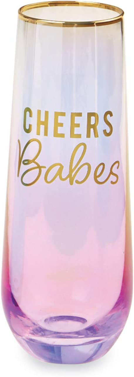 Mud Pie Detroit Mall OMBRE CHAMPAGNE oz 9 PINK GLASS High order