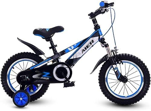 promociones Bicicletas Niños Montaña Montaña Montaña de una Sola Velocidad para Niños, Niños de 3 a 10 años (Color   azul, Talla   14inches)  ahorra hasta un 80%