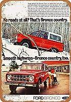 Ford Bronco Car ティンサイン ポスター ン サイン プレート ブリキ看板 ホーム バーために