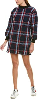 joa plaid fringe dress