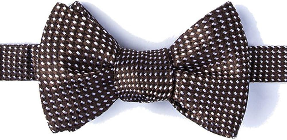 Men's 100% Silk Contemporary Designer Groote Geometric Butterfly Self Tie Bow Tie