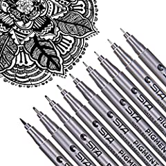 Assorted Tip Sizes - Multi drawing pens 9 unique nibs sizes to choose from. Includes 8 micro nib sizes: 0.2mm (005), 0.25mm (01), 0.3mm (02), 0.35mm (03), 0.4mm(04), 0.45mm (05), 0.5mm (06), 0.6mm (08). 1 Soft Brush tip. Offering a variety of sizes f...