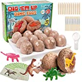 LotFancy Dinosaurs Eggs Dig Kit, Dinosaur Toys for Kids, 12 Different Dino Eggs Excavation Kit withMagnifying Glass, Archaeology Science Gift, Educational STEM Toy for 6 7 8 9 10+ Year Old Boys Girls
