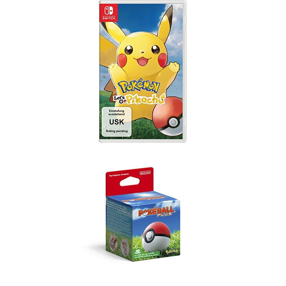 Pokémon: Let´s Go, Pikachu! - Nintendo Switch + Pokèball Plus [Importación alemana]: Amazon.es: Videojuegos