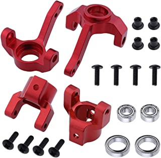 Hobbypark Aluminum Steering Knuckle & C Hub Carrier w/Ball Bearings Replacement of AX30495 AX30496 for RC AXIAL SCX10 Option Parts