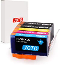 JOTO Compatible Ink Cartridge Replacement for 564XL 564 XL Photosmart 5520 6520 7520 6510 5510 7510 7525 (1 Black, 1 Photoblack, 1 Cyan, 1 Magenta, 1 Yellow, 5 Pack, High Yield)