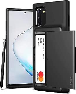 VRS Design Samsung Galaxy Note 10 Damda Glide Shield Semi Automatic Card Wallet cover/case - Steel Silver