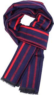 الأوشحة الشتوية الناعمة للنساء والرجال للجنسين الرقبة تدفئة أغطية رأس للسفر - أحمر/أسود مقلم