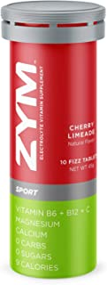 ZYM Sport Cherry Limeade Electrolyte Effervescent Tablet Single Tube , Natural Electrolyte Replacement Supplement for Fast...