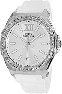 Juicy Couture Womens Quartz Watch, Analog Display and Rubber Strap 1901031