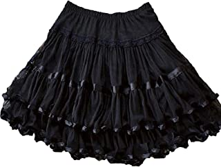 4b9497df6 Yummy Bee Womens Skirt Layered Frilly Rockabilly Long Swing Skater Plus Size  2-24