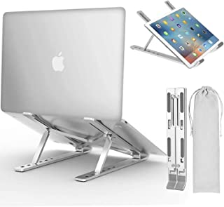 Laptop Stand, Adjustable Ergonomic Laptop Stand with Laptop Stand, Aluminum Folding Desk Stand, Compatible with MacBook, A...