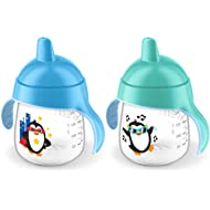 Philips Avent My Penguin Sippy Cup 9oz, Blue and Green, 2pk, SCF753/25