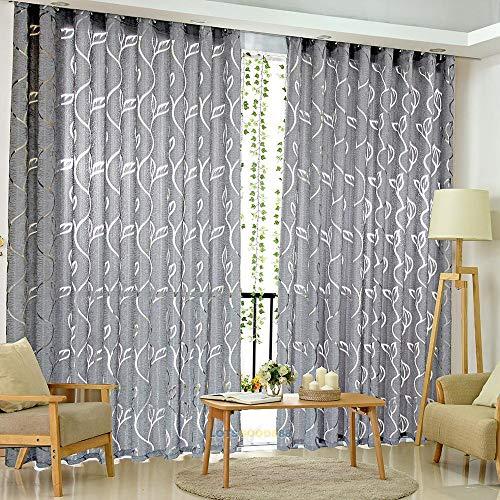 Muamaly Cortina Opaca, Cortinas Opacas, Color Gris, para Dormitorio, salón, habitación de los niños, 200 cm x 100 cm