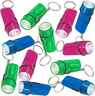 ArtCreativity Flashlight Keychains, Pack of 24, LED Key Chains in Assorted Colors, 2.25 Inch Durable Plastic Keyholders, B...